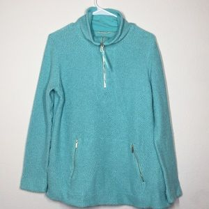 Soft Surroundings aqua knit pullover sweater